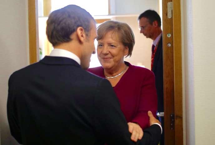 Emmanuel Macron et Angela Merkel,le 28 mai à Bruxelles.