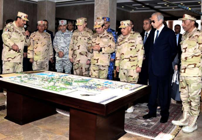 Le président égyptien Abdel Fattah Al-Sissi, lors de l'inauguration d'un centre de commandement militaire antiterroriste dans le Sinaï, en février 2018.