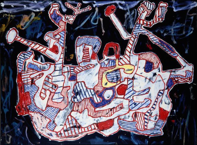 «Le Bariole mariole» (1964), de Jean Dubuffet, huile sur toile, collection privée.
