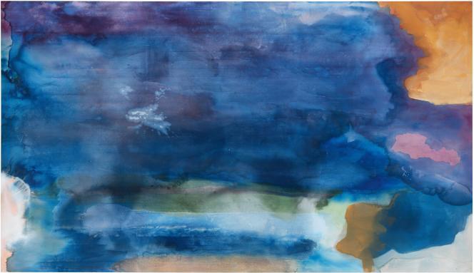 « Riverhead» (1963), de Helen Frankenthaler, huile sur toile.