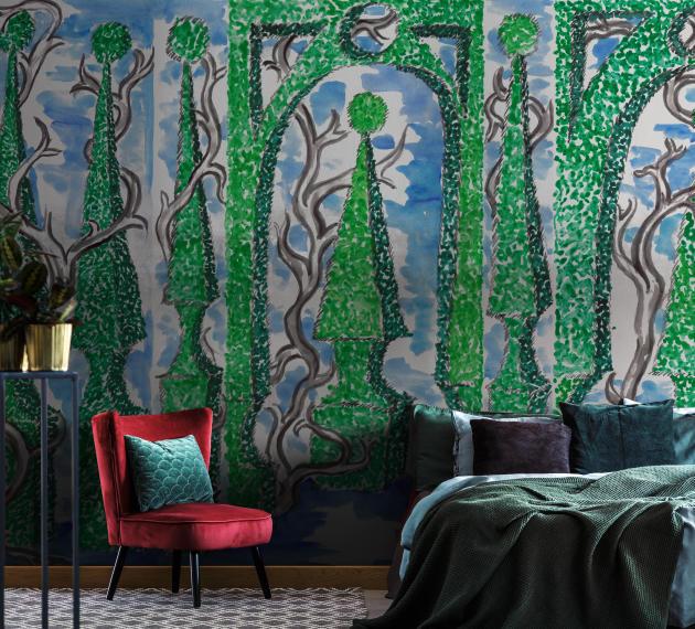 Jardin à la française : un décor onirique signé Vincent Darré pour Au fil des couleurs (collection Palace).