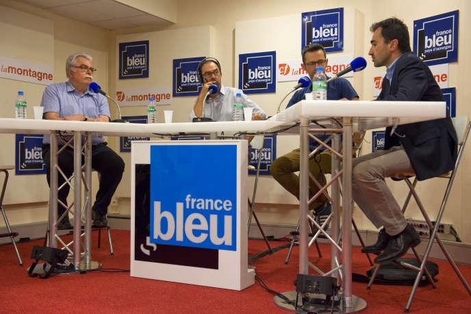 Un débat à l'antenne de France Bleu Pays d'Auvergne le 13 juin 2017.