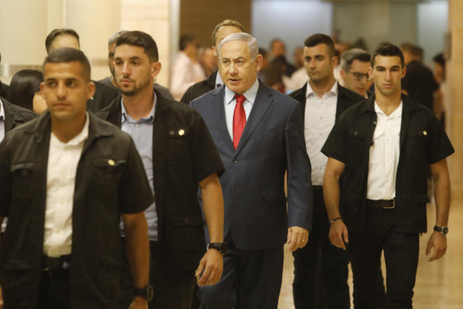 Benyamin Nétanyahou se rend à la Knesset à Jérusalem (Israël), le 29 mai.