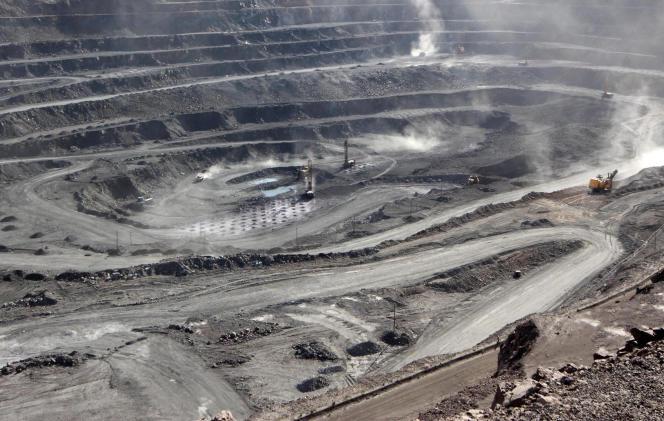 Bayan Obo, une mine d'extraction de terres rares en Mongolie intérieure, en 2011.