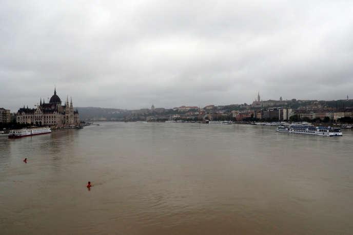 Vue sur le Danube, à Budapest, le 30 mai.