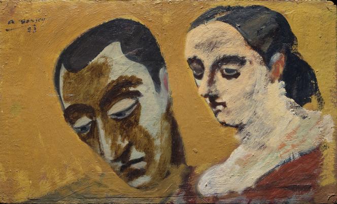 « Portrait de moi-même et de ma femme imaginaire», d'Arshile Gorky, huile sur carton. Musée Hirshhorn, Smithonian, Washington DC.