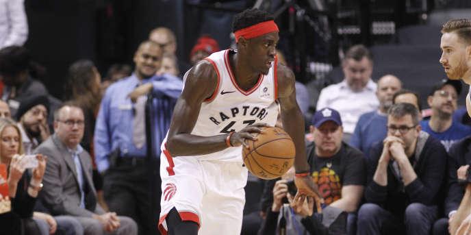 Le joueur des Raptors de Toronto, Pascal Siakam,lors d'un match contre les Celtics de Boston, le 26 février 2019.