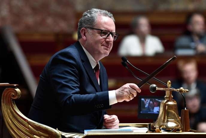 Richard Ferrand préside lors d'une séance de questions àl'Assemblée nationale à Paris, le 22 mai.