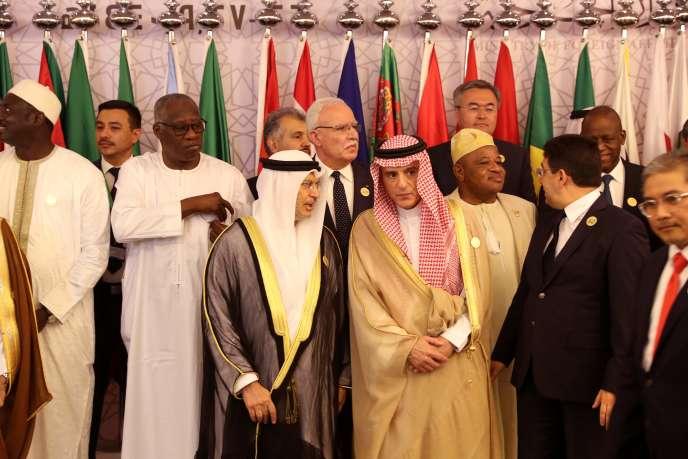 Réunion des ministres des affaires étrangères du monde arabo-musulman à Djeddah, en Arabie saoudite, le 30 mai.