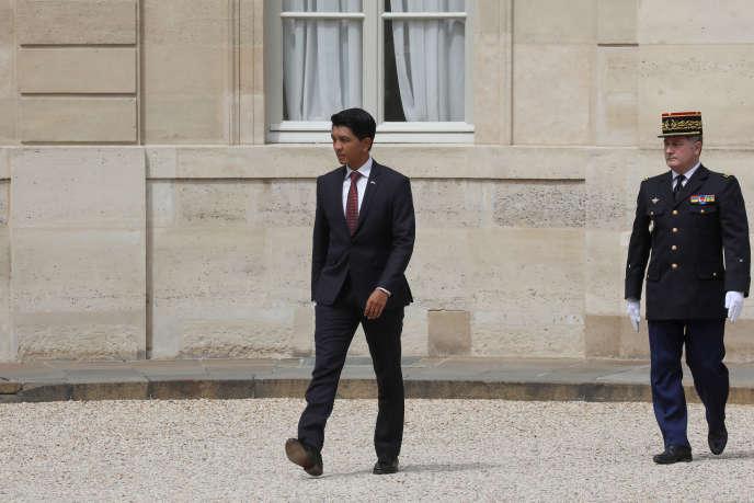 Le président malgache, Andry Rajoelina, au palais de l'Elysée, à Paris, le 29mai 2019.