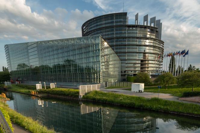 Le Parlement européen à Strasbourg, le 26mai, jour d'élections européennes.