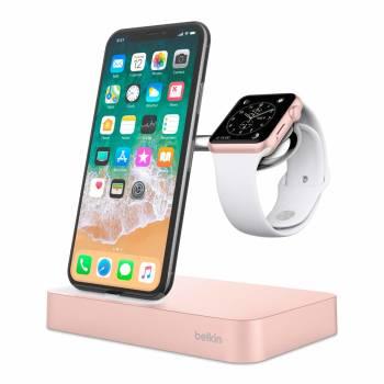 Un modèle de luxe qui recharge montre et téléphone Station de recharge Belkin Valet pour Apple Watch + iPhone