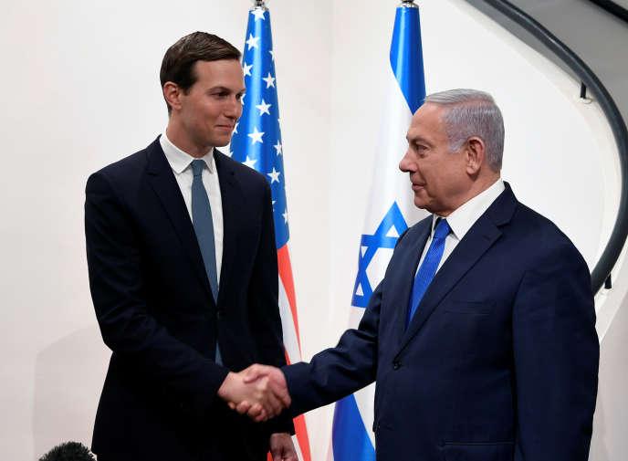 Jared Kushner et Benjamin Nétanyahou lors de leur rencontre à Jérusalem, le 30 mai.