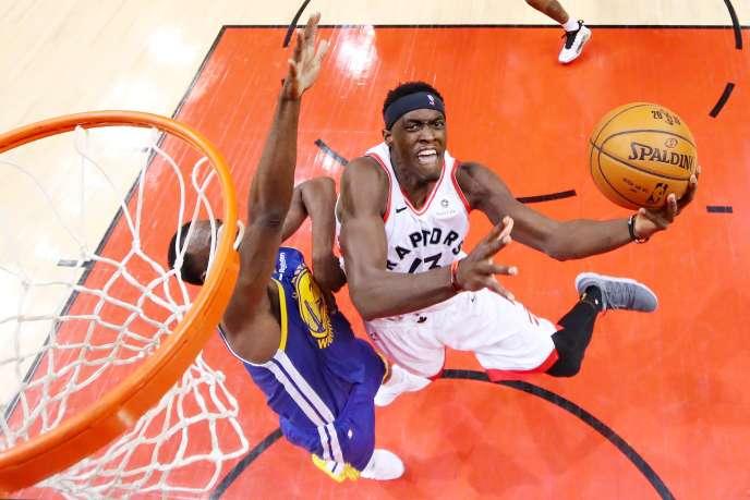Le joueur des Raptors, Pascal Siakam, lors du match face au double tenant du titre NBA, Golden State, jeudi 30 mai, à Toronto.