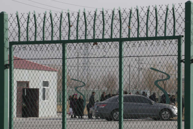 Centre de détention pour Ouïgours présenté comme «Centre de formation professionnelle» à Artux (Xinjiang), le 3 décembre 2018.