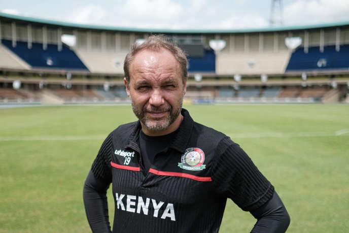 L'entraîneur français, Sébastien Migné, de l'équipe nationale du Kenya, à Nairobi, le 20 mai 2019.