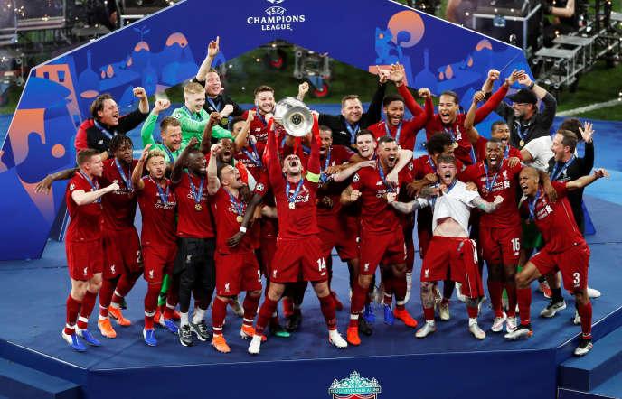 Les Reds de Liverpool, vainqueurs de l'édition 2018-2019 de la Ligue des champions.