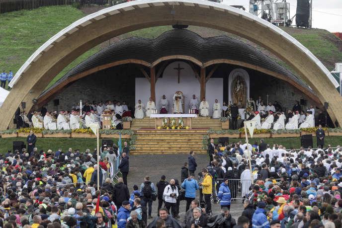 Le pape François à Sumuleu Ciuc (Roumanie), le 1er juin.