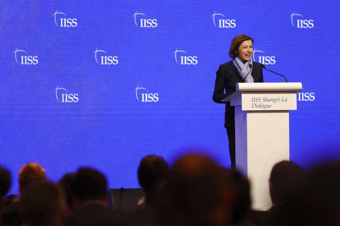 La ministre de la défense Florence Parly au forum Shangri-la Dialogue à Singapour, le 1er juin 2019.