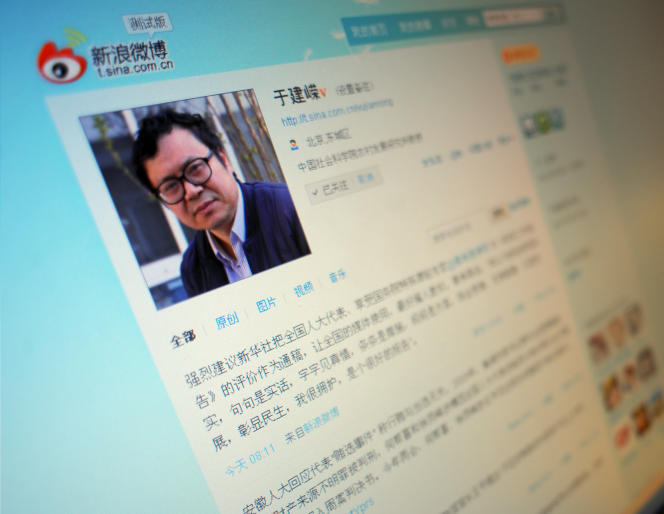 Le compte Weibo, équivalent chinois de Twitter,du professeur Yu Jianrong en 2011.