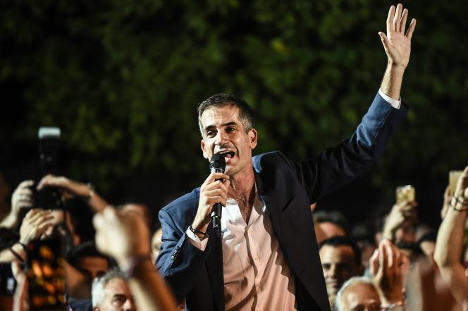 Kostas Bakoyannis, dimanche 2 juin à Athènes.