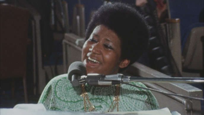 Aretha Franklin, en janvier 1972 dans« Amazing Grace», d'Alan Eliott.