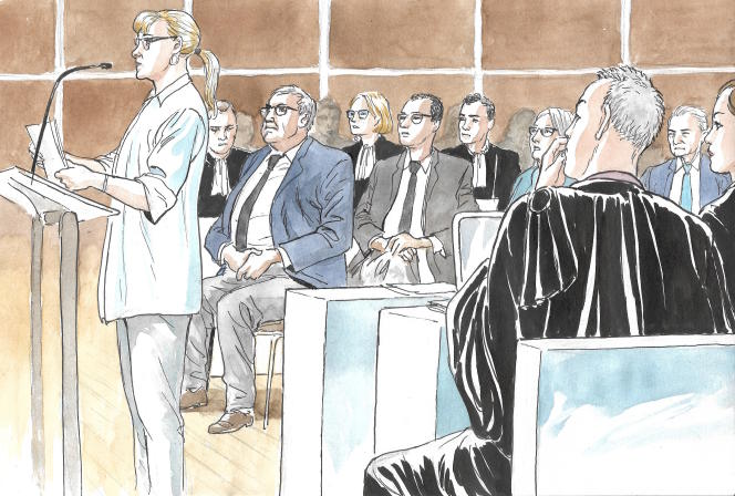 Ghislaine Regnier lors du procès France Télécom, le 3 juin.