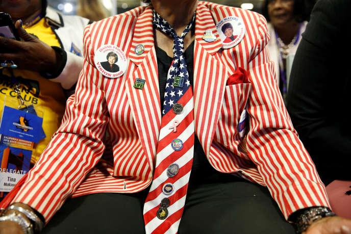 A la convention des démocrates, à San Francisco (Californie), le 1er juin.