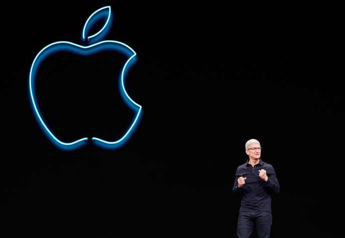 Le président-directeur général d'Apple, Tim Cook, lors de la WWDC le 3juin.