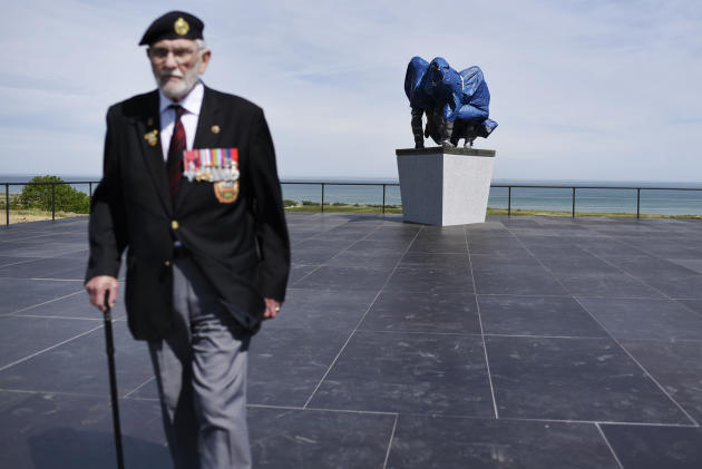 George Batts, vétéran anglais ayant participé au débarquement le 6 juin 1944 à Ver-sur-Mer (Calvados) le 2 juin.