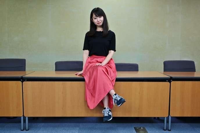 Yumi Ishikawa, fondatrice du mouvement« Kutoo» contre le port obligatoire de talons au travail pour les Japonaises.