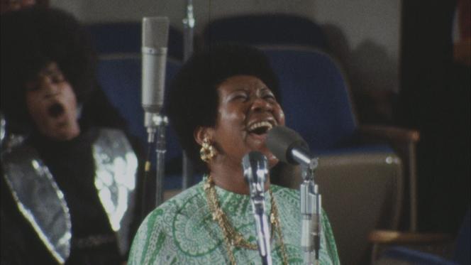 Aretha Frankil, en janvier1972, dans« Amazing Grace»,d'Alan Eliott.