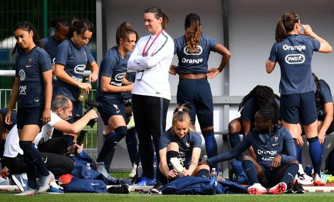 La sélectionneuse des Bleues, Corinne Diacre, à Clairefontaine le 27 mai 2019.