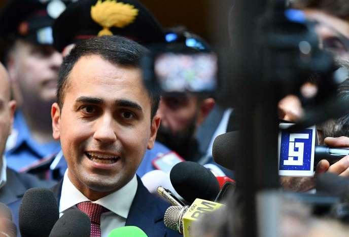 Luigi Di Maio (Mouvement 5 étoiles, antisystème), le 4 juin 2019, à Rome. Le vice-premier minitre, sorti affaibli des élections européennes, a affirmé, concernant la question budgétaire, que l'Italie « [était] un pays sérieux, qui [respectait] la parole donnée ».