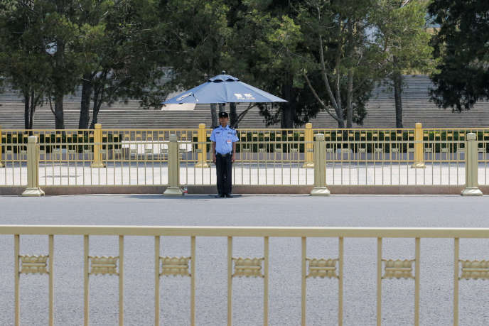 Place Tiananmen, à Pékin, mardi 4 juin.