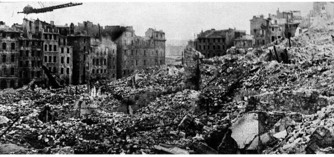 Le port de Marseille en 1943.