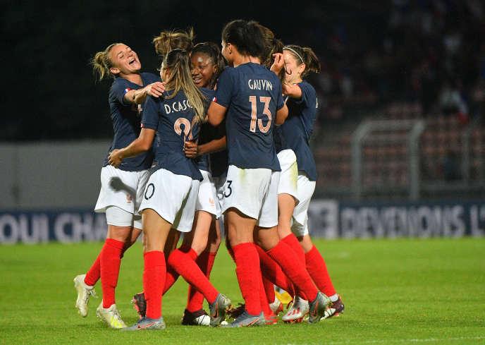 L'équipe de France face à la Chine,en match amical,le 31 mai 2019.