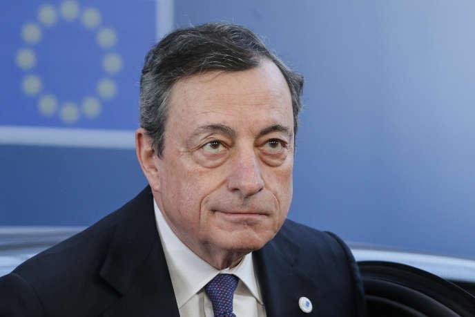 Le président de la Banque centrale européenne (BCE), Mario Draghi, à Bruxelles, le 22 mars.
