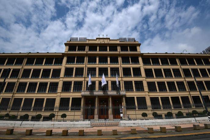 Le siège de Fiat Chrysler Automobiles (FCA), à Turin (nord-ouest de l'Italie), en juillet 2018.