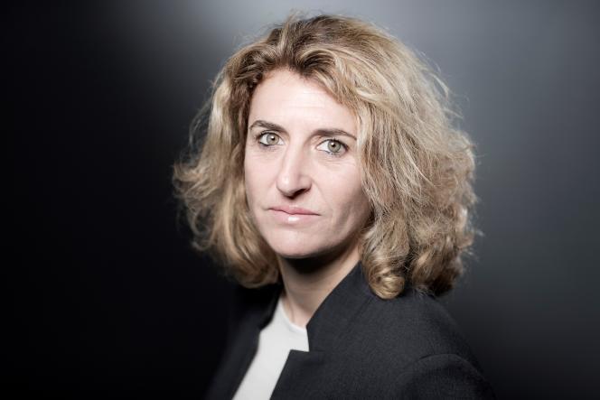 Marinette Pichon, ex-internationale française et pionnière du football féminin. Le 5 avril 2018.