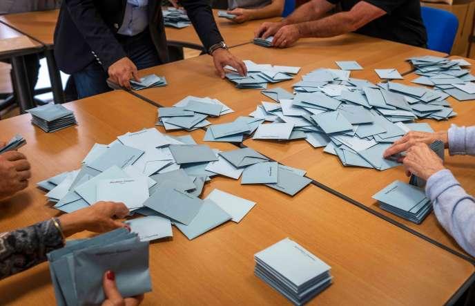 Décompte des voix de l'élection européenne, le 26 mai.