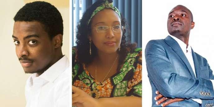 De gauche à droite: le Sénégalais Khalil Diallo, la CamerounaiseDjaïli Amadou Amal et le Guinéen Sidy Kaba Diakité.