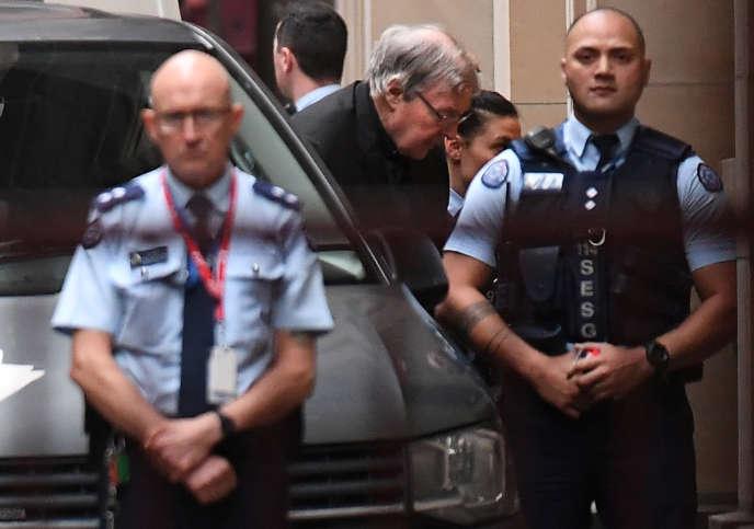 Le cardinal George Pell à son arrivée au tribunal à Melbourne, le 5 juin.
