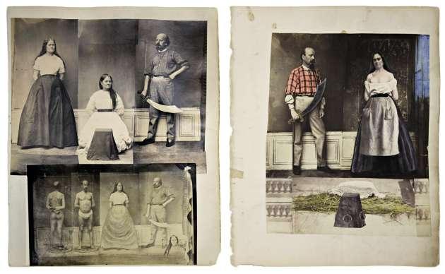 Anonyme, sans titre, années 1870. Photomontage de tirages d'époque.