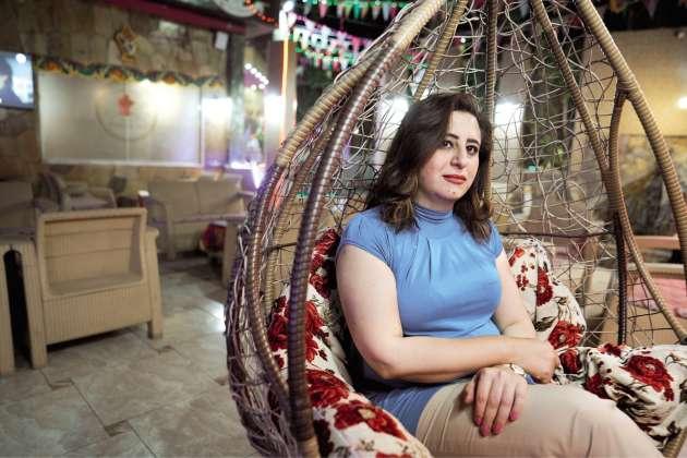 Wassima Al-Khatib, employée d'une entreprise publique, au Caire, le 29avril. Elle a manifesté place Tahrir pendant trois ans.