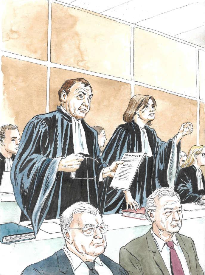 Frédérique Baulieu et Patrick Maisonneuve, avocats de la défense.