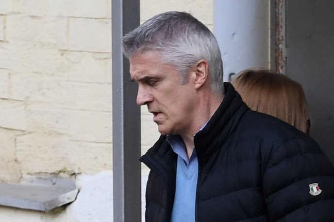 Le fondateur américain de Baring Vostok, Michael Calvey, sortant du tribunal à Moscou le 11 avril 2019. Il a été placé depuis en résidence surveillée.