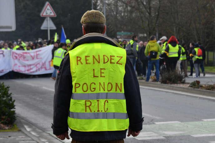 Manifestation de «gilets jaunes» le 12 janvier à La Rochelle.