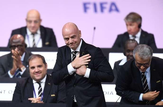 Le président de la FIFA, Gianni Infantino, le 5 juin, à Paris.