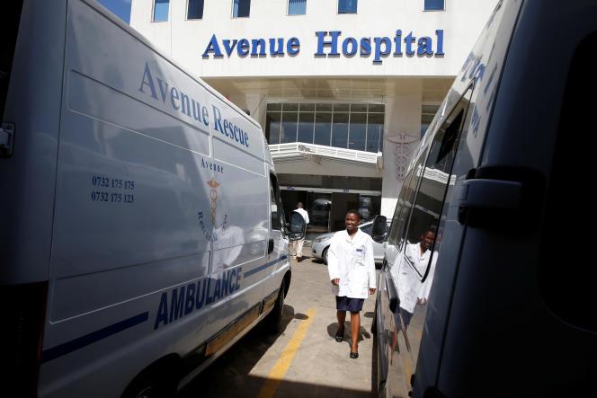Les nouvelles technologies numériques sont un moyen de transformer les systèmes de santé. Ici, l'hôpital Avenue, à Nairobi, au Kenya, en février 2019.